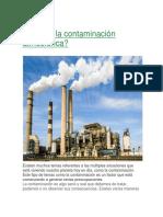 Qué Es La Contaminación Atmosférica