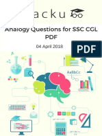 Analogy Questions for SSC CGL PDF.pdf