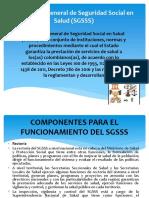 El Sistema General de Seguridad Social en Salud