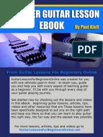 Beginner Guitar Less One Book