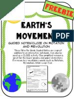 Rotation and Revolution Movement Gaps