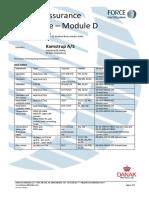MID Certificate Modul D Kamstrup