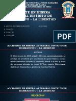 Accidente en Minera Artesanal Distrito de Huamachuco