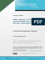 PaperGilles Deleuze y El Empirismo Trascendental