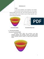 Makalah Paraboloida Elliptis Dan Paraboloida Hiperbolik