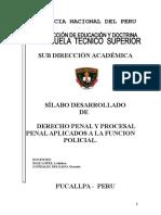 3. Silabo Desarrollado Derecho Penal y Procesal Penal i