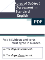 001 Rules of Subject Verb Agreement In