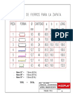 4. Material - Armadura de Zapata