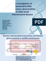 The investigation of mitochondrial DNA maintenance abnormalities in adult onset mitochondrial disease