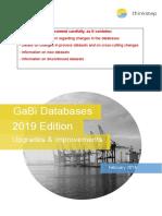 GaBi Database 19 -Upgrades and Improvements