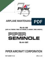 PIPER PA44-180 180T maintenance manual 761664.pdf