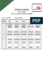 sample class program