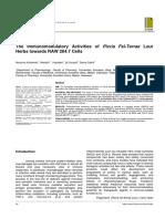 The Immunomodulatory Activities of Picria Fel-Terr