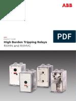 High Burden Tripping Relay RXMN & RXMVC41