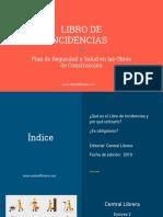 Libro de Incidencias Plan de Seguridad y Salud en Las Obras de Construcción