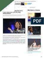 Discurso de Cristina Fernandez, 25 de Mayo de 2015 _ Cristina Fernandez de Kirchner