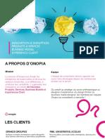 Onopia  - Les outils de co-création pour un business model innovant