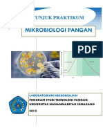 Buku Panduan Praktikum Mikrobiologi Pangan 2013