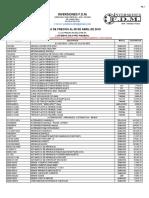 Lista de Precios Fdm (Sin Toyota) 03-04-2019