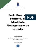 Publicação Perfil Rural Metropolitano de Salvador