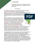 Analysis of Language