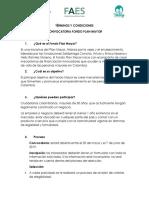 Términos y Condiciones Convocatoria Fondo Plan Mayor