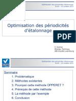 Optimisation Des Périodicités d Étalonnage - PDF