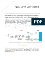 Basics of Digital Down Conversion in DSP