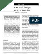 Game & Foreign Language Teaching