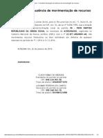 Imprimir - Formulário Declaração de Ausência de Movimentação de Recursos