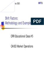 Shift factores
