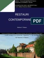 Teoria del restauro - i  restauri contemporanei 1