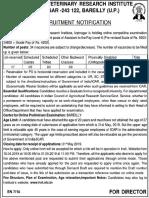 ICAR IVRI Recruitment Notice 15 05