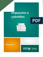 Impuestos y Subsidios