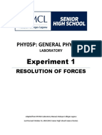 Phy05P Experiment 1 Resolution of Forces V2.0 October 31 2018 (1)