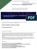 Técnicas Corporales y Expresivas VI _ Facultad de Diseño y Comunicación - UP