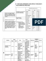 plan operativo PROYECTO  PLAN  LECTOR 2018.docx