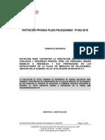 Terminos de Referencia - Ip-002-2016