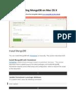 009 Installing MongoDB on Mac OS X
