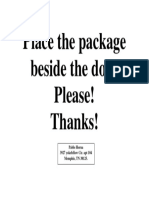 Place the package beside the door.docx