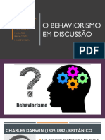 SLIDE - Behaviorismo Apresentação Do Seminário