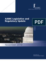 AAMC Legislative and Regulatory Update November 2010