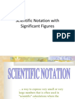 Scientific Notation With Significant Figures
