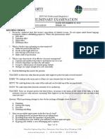 Test 004 Preliminary Examination