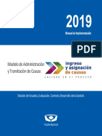 Manual de Implementacion 2019 Modelo Adm y Tramitacion