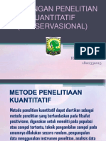 RANCANGAN PENELITIAN KUANTITATIF (OBESERVASIONAL).pptx