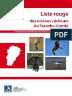 Liste rouge des oiseaux nicheurs  de Franche-Comté