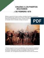 Agresiones de Chile Contra Bolivia
