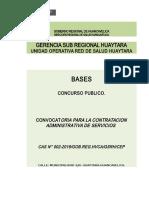 BASES CAS N° 002-2019 RED DE SALUD DE HUAYTARA