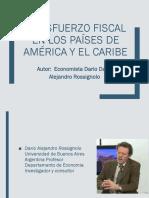 El Esfuerzo Fiscal en Los Países de América (1)